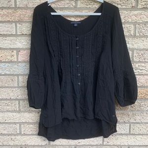 American eagles outfitters black peasant top M